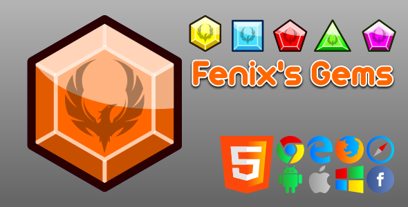 Fenix's Gems - HTML5 Game - CodeCanyon Item for Sale