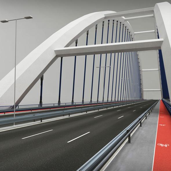 Suspended Arch Bridge - 3DOcean Item for Sale