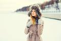 Fashion winter portrait beautiful young woman wearing a coat jac - PhotoDune Item for Sale