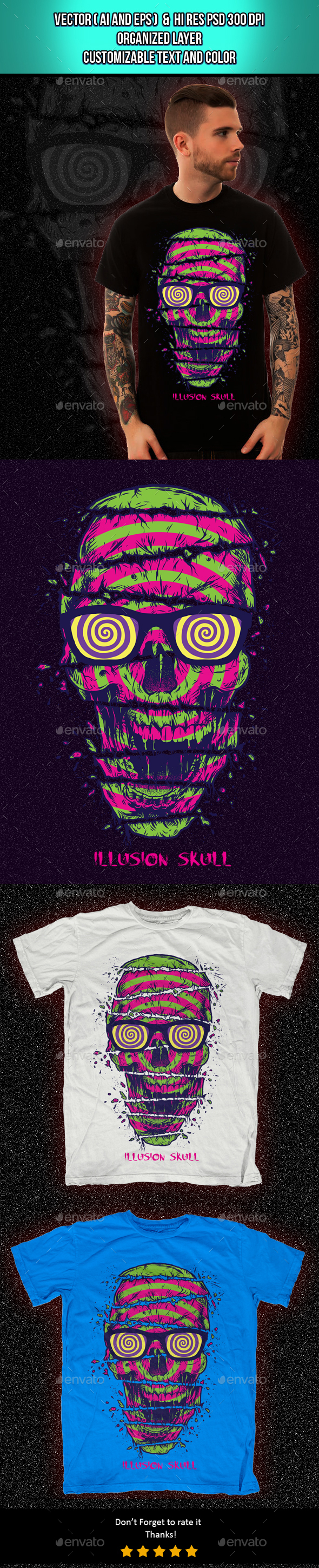 Illusion Skull - Funny Designs