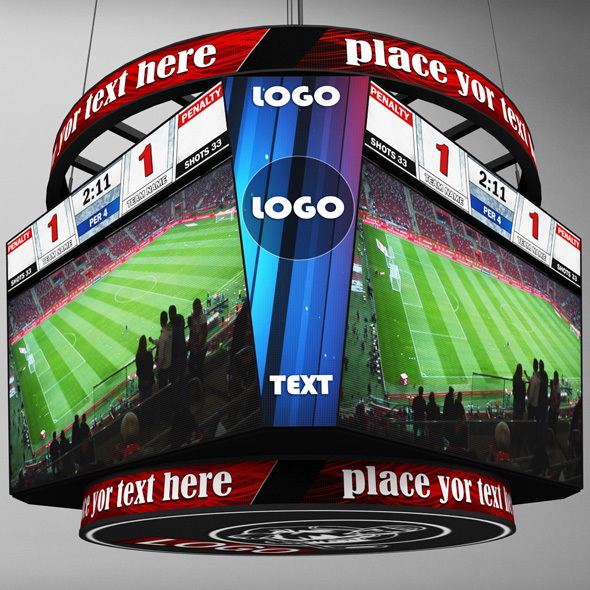 Jumbotron scoreboard hexagon - 3DOcean Item for Sale