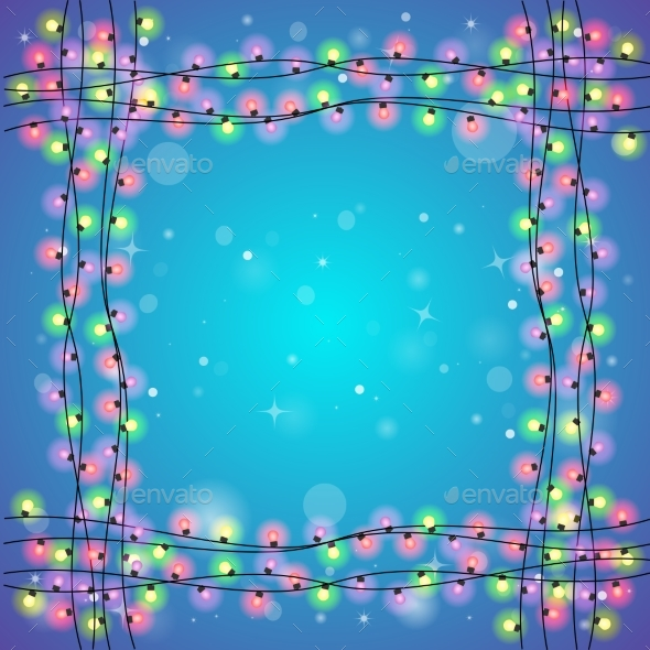 Blue Holiday Square Background - Christmas Seasons/Holidays