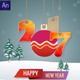 Happy New Year 2017 Greeting Card Nulled