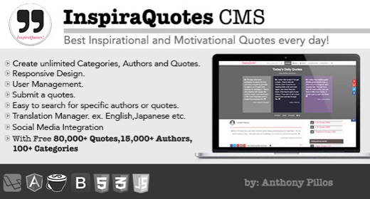 InspiraQuotes CMS