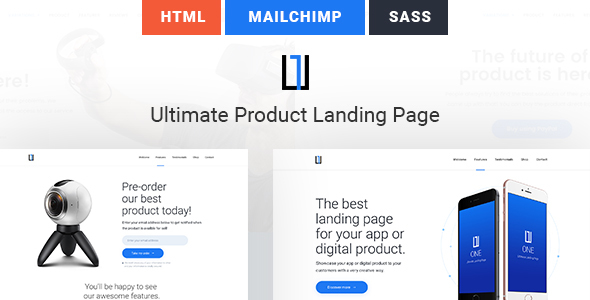 One – Ultimate Product Landing Page