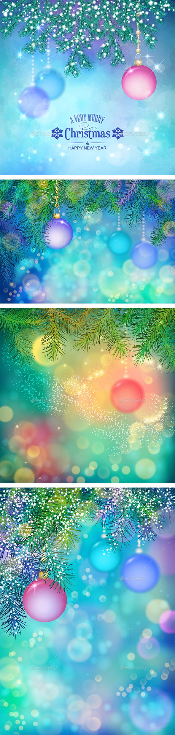 Vector Christmas Background - Christmas Seasons/Holidays