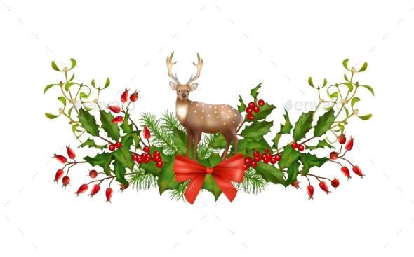 Christmas Garland Vector - Christmas Seasons/Holidays