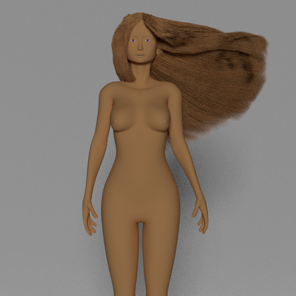 Cute topology low poly woman - 3DOcean Item for Sale