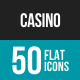 Casino Flat Multicolor Icons