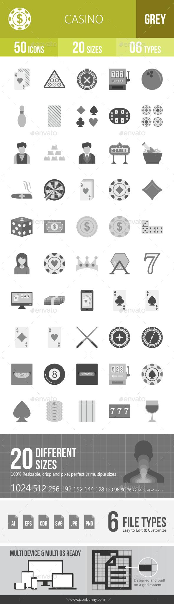 Casino Greyscale Icons - Icons