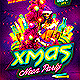 Christmas Glow Neon Party Flyer - GraphicRiver Item for Sale