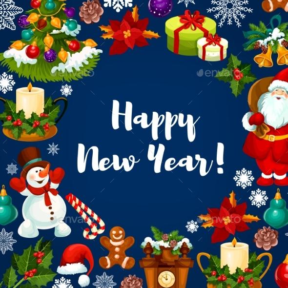 Happy New Year Holidays Poster - New Year Seasons/Holidays