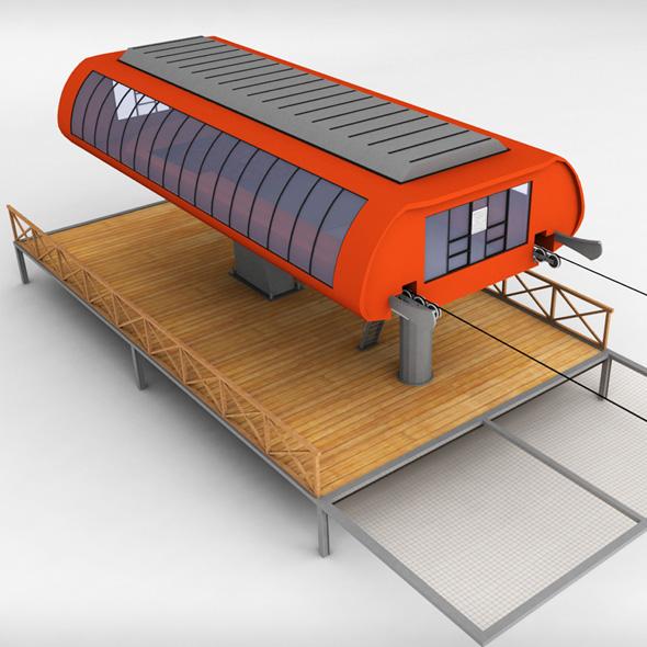 Ski lift station - 3DOcean Item for Sale