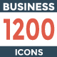 1200 Business Icons Pack - GraphicRiver Item for Sale