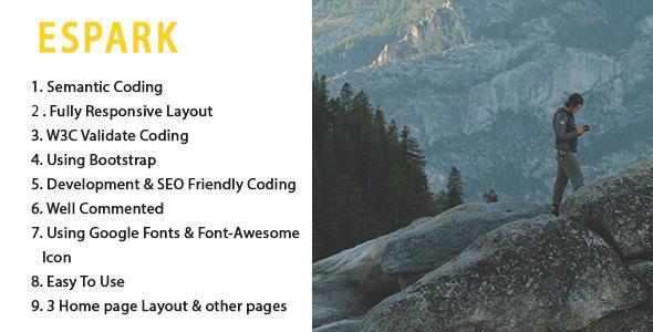 ESPARK Onepage Multipurpose HTML5 Template