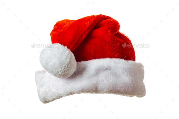 Santa hat on white - Stock Photo - Images