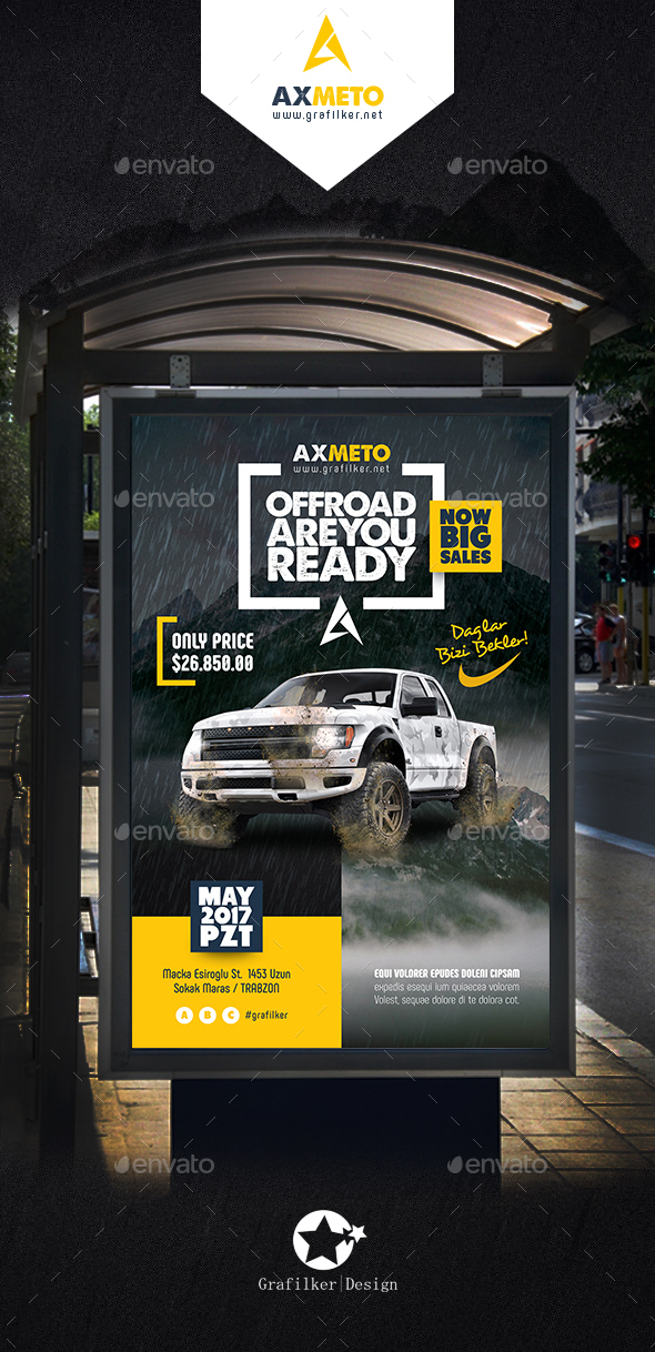 Off-Road Adventure  Poster Templates - Signage Print Templates
