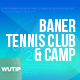 10 Facebook Post Banners - Tennis Club and Camp - GraphicRiver Item for Sale