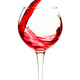 Splash of red wine in a glass goblet - PhotoDune Item for Sale