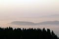 Forested hills in early morning mist - PhotoDune Item for Sale