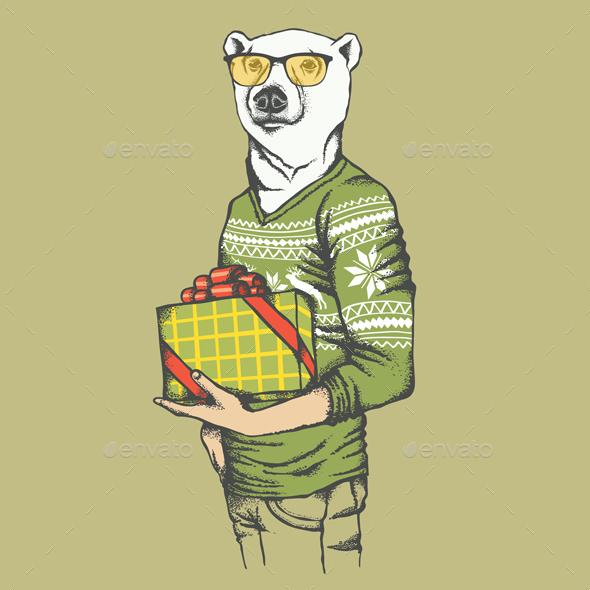 White Polar Bear - Christmas Seasons/Holidays