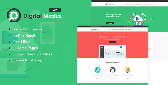 Digital Media – Digital Marketing WordPress theme