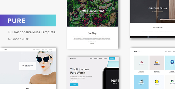 Pure - Responsive Creative Portfolio Muse Template - Creative Muse Templates