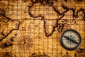 Old vintage compass on ancient map - PhotoDune Item for Sale