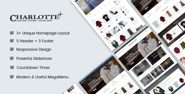 Charlotte | Creative - Modern - Flexible Responsive Shopify Theme - Fashion Shopify