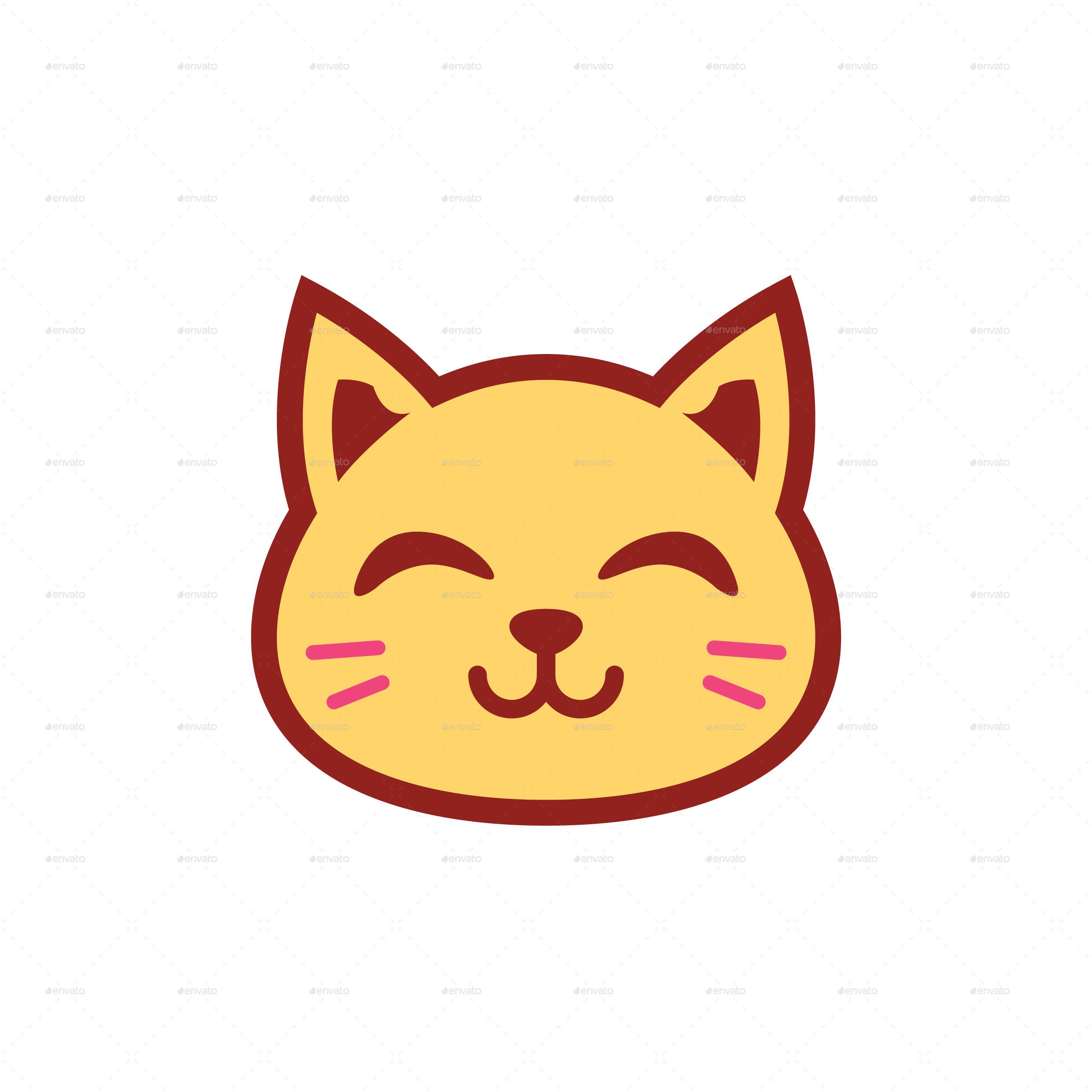 cute kitty emoticon by yellowline std