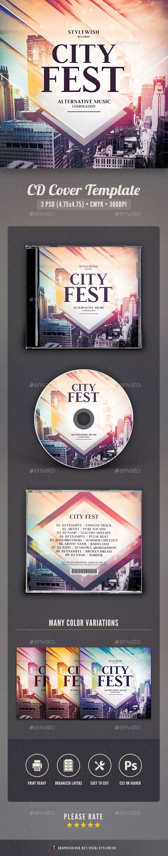 City Fest CD Cover Artwork - CD & DVD Artwork Print Templates