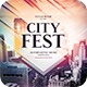 City Fest CD Cover Artwork - GraphicRiver Item for Sale