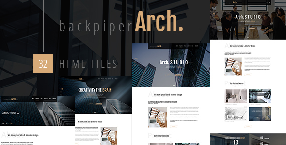 BackpiperArch – Architecture, Interior, Portfolio HTML Template