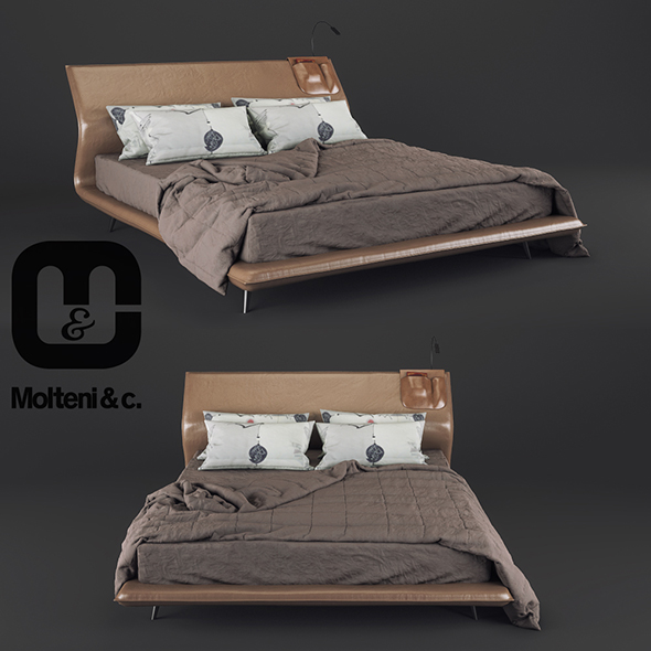 Bed Molteni&C Night&Day - 3DOcean Item for Sale