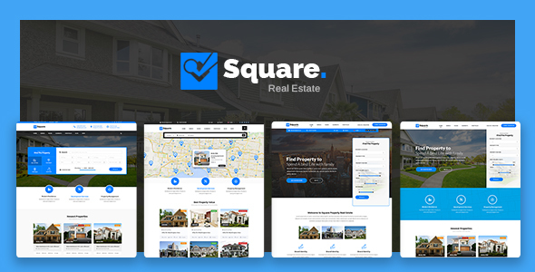 Square - Professional Real Estate PSD Templates - Business Corporate