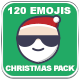 120 Animated Emojis - Christmas Pack - VideoHive Item for Sale