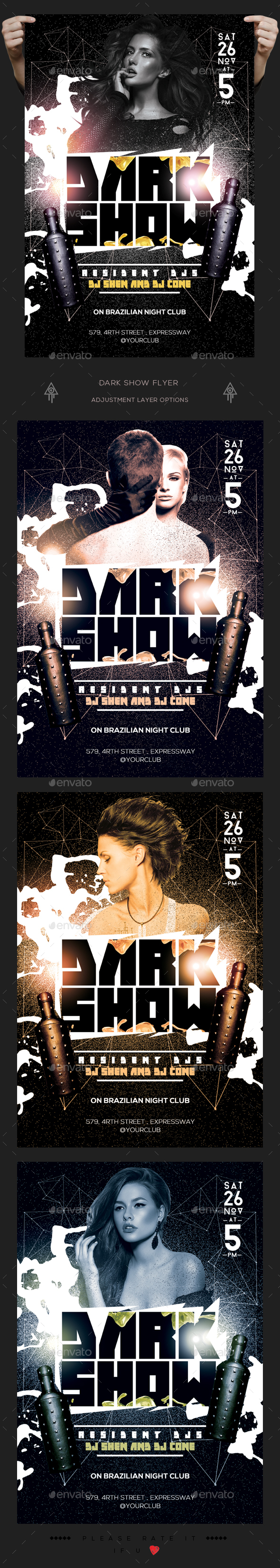 Dark Show Flyer - Clubs & Parties Events