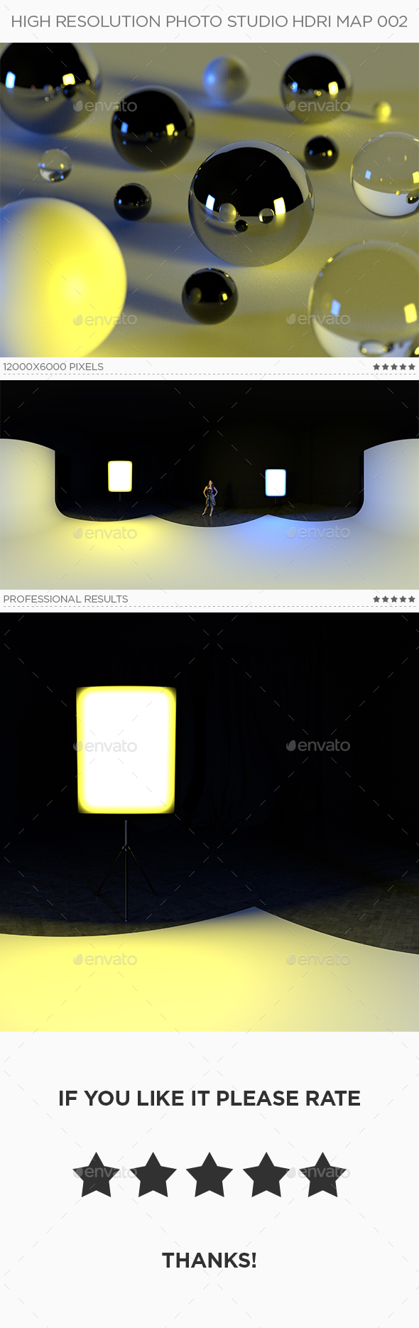 High Resolution Photo Studio HDRi Map 002 - 3DOcean Item for Sale