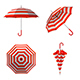 Summer Beach Red Umbrella Set - GraphicRiver Item for Sale