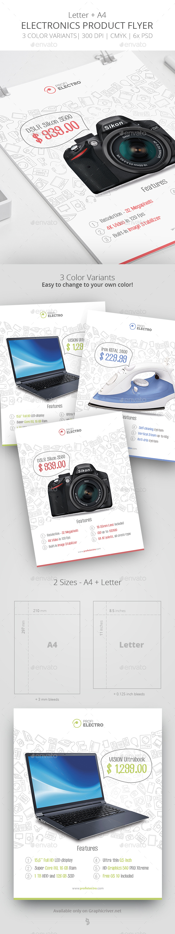 Product Flyer Template - Electronics - Commerce Flyers