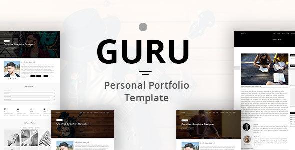 GURU – Personal Portfolio Template