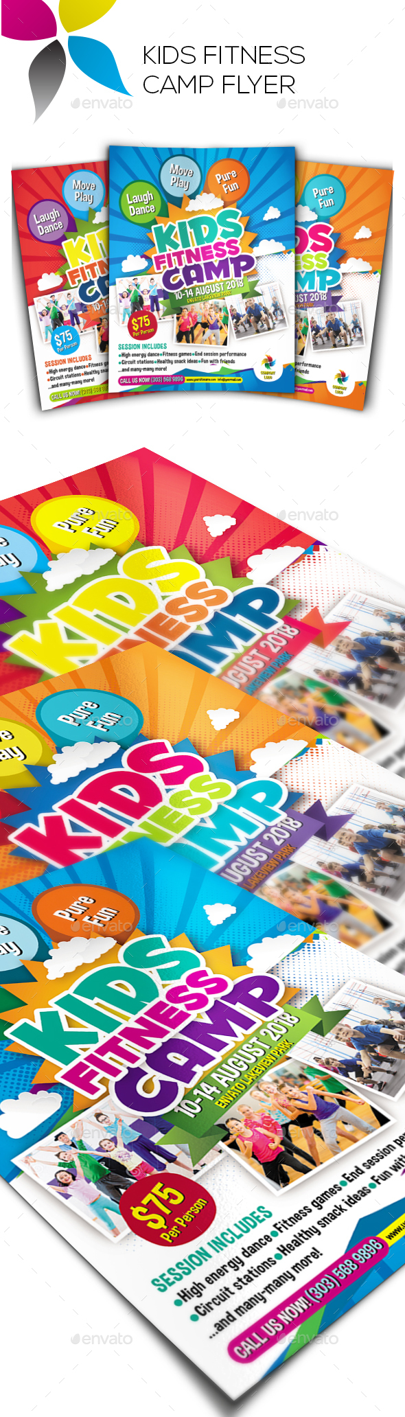 Kids Fitness Camp Flyer