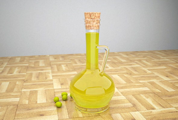 Olive oil bottle - 3DOcean Item for Sale