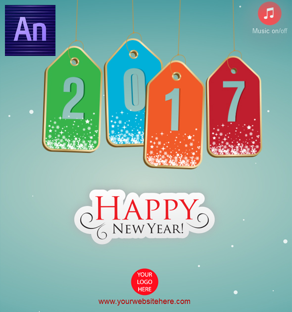 Happy New Year 2017 Tag Style - CodeCanyon Item for Sale