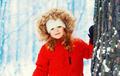 Winter portrait happy smiling little girl child near tree over s - PhotoDune Item for Sale