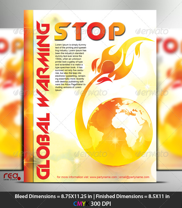 Global Warming Postar/Flyer Template - Miscellaneous Events