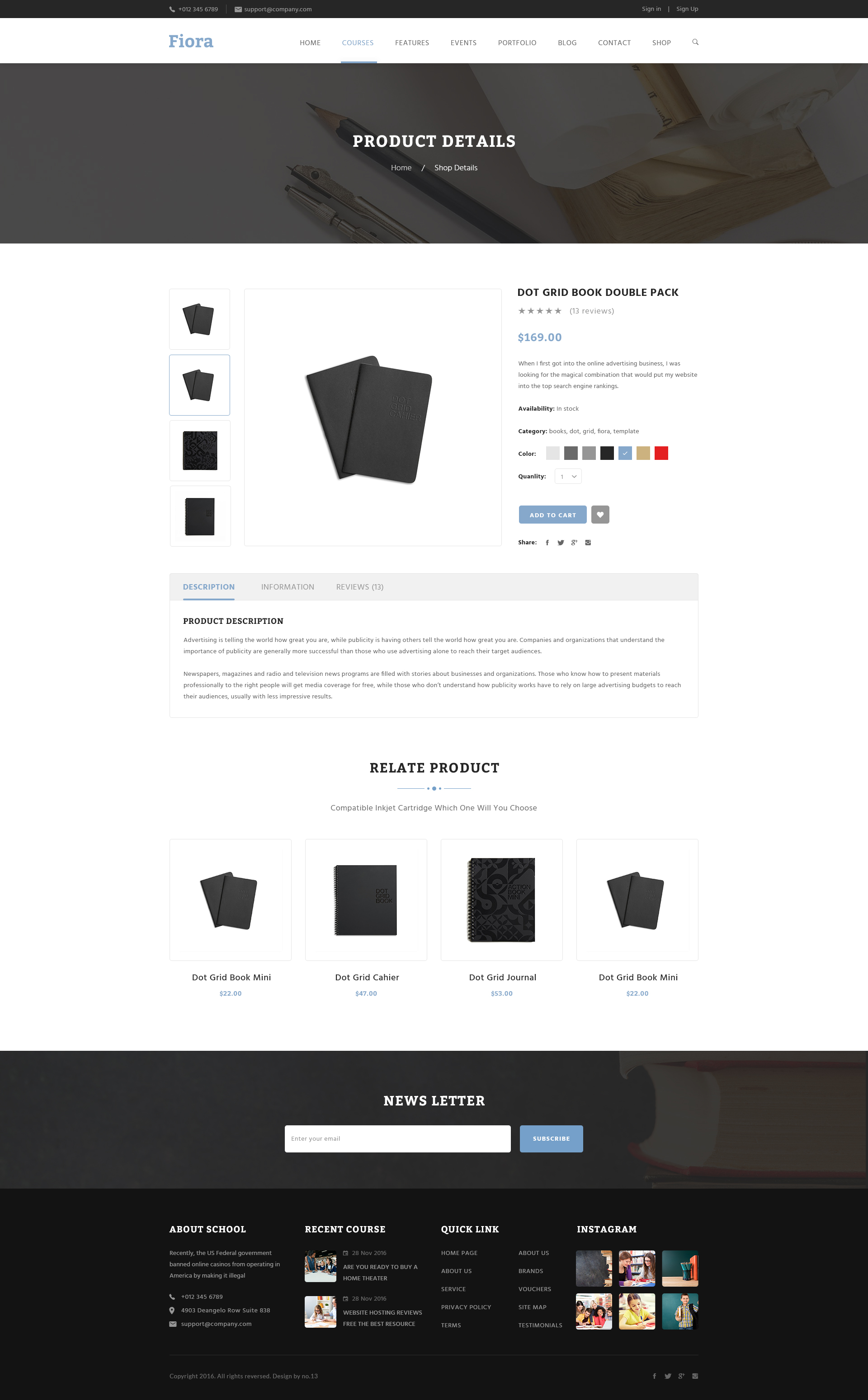 Copyright 169 2017 the design co all rights reserved - Fiora Education Psd Template