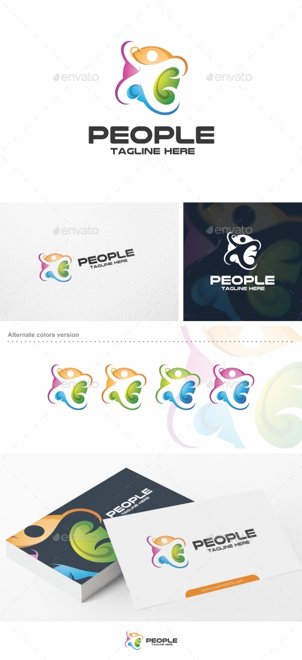Colorful People - Logo Template - Humans Logo Templates