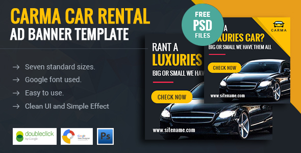 Carma | Car Rental HTML 5 Animated Google Banner - CodeCanyon Item for Sale