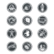 Set of Vector Round Badges Space - GraphicRiver Item for Sale